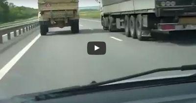 VIDEO| Mit 160 km/h über die Autobahn - und das als LKW