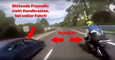 [Video] Beifahrerin zieht bei voller Fahrt die Handbremse!