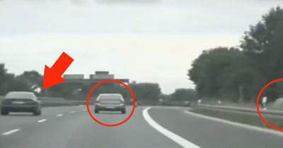 Schleicher auf deutschen Autobahnen sind ein Risiko