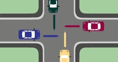Gleichrangige Kreuzung - wer darf zuerst fahren?